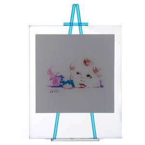 Bomboniere e ricordini: Quadro vetro da appoggio Custodiscimi 27x32 cm Acquamarina