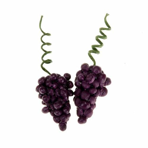 Racimos de uva roja para pesebre 2 piezas s1