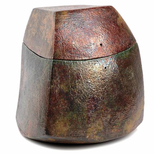 Raku urn, square 4/10 s1