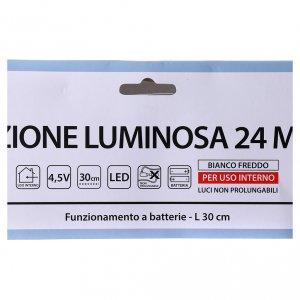 Árbol de Navidad luminoso 24 mini LED blanco frío INTERIOR batería s4