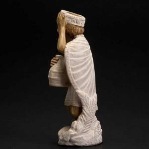 Presepe Bethléem: Re magio africano Presepe d'Autunno dipinto bianco
