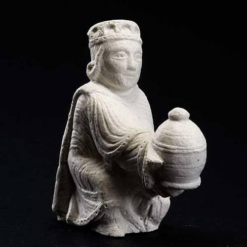 Re magio persiano Presepe d'Autunno pietra bianca 3