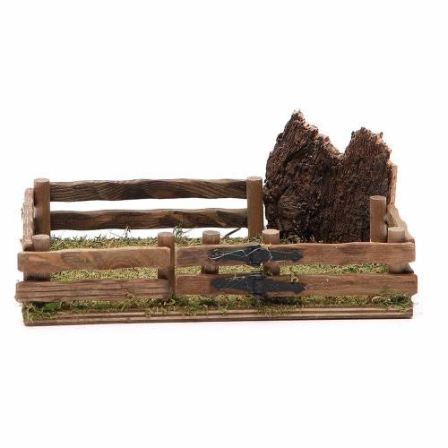 Recinto in legno presepe 12x18 cm s1
