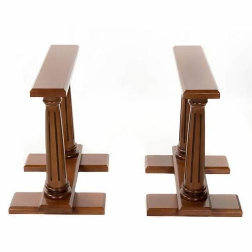Reggi feretro legno di noce coppia s1