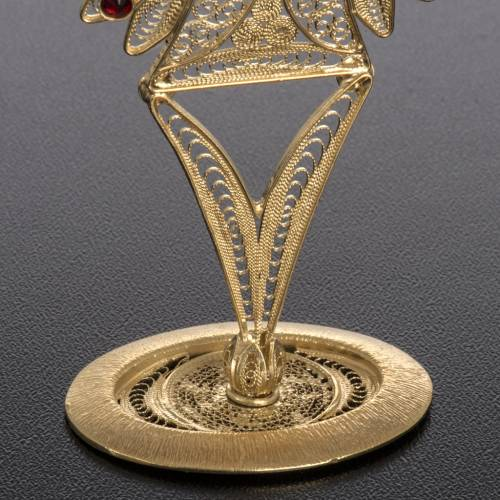 Reliquary in 800 silver filigree, decorated, red stones s4