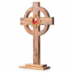 Monstrances, reliquaries in olive wood: Reliquary olive wood with silver 800 shrine