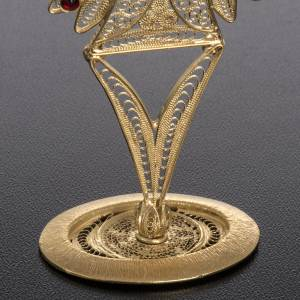 Reliquiario filigrana argento 800 ricami pietre rosse s4