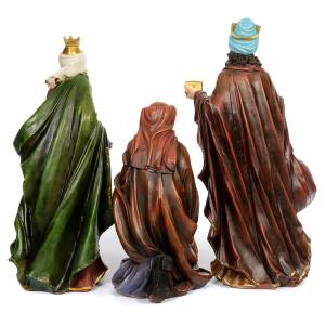 Resin and Fabric nativity scene sets: Resin nativity scene set of 11 pieces 76 cm