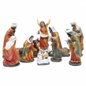 Resin and Fabric nativity scene sets: Resin nativity set measuring 15cm, 11 figurines