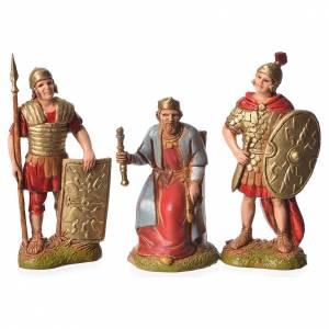 Rey Herodes y soldados 3 figuras 6 cm para belén Moranduzzo s1