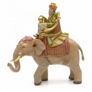 Rey mago mulato sobre elefante 12cm Fontanini s1