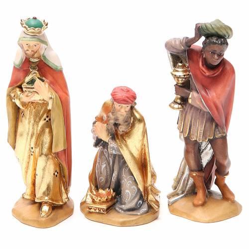 Reyes Magos, mod. Orient, Madera de la Valgardena pintada s1