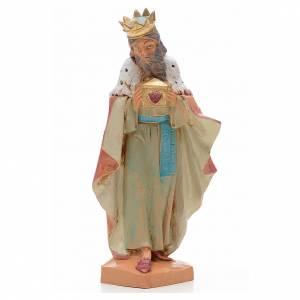 Roi Mage blanc crèche 17 cm Fontanini s1
