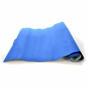 Fondos y pavimentos: Rollo papel azul terciopelo cm. 70x50