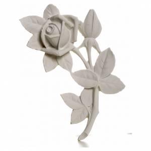 Rosa 11 cm, de mármol para aplicaciones s1