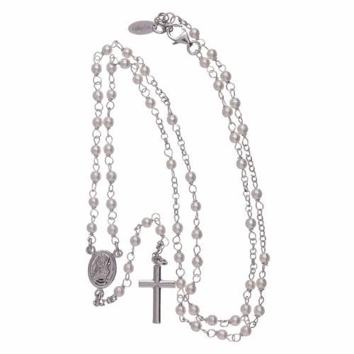 Rosario classico AMEN Giubileo perle Swarovski e argento 925 s4