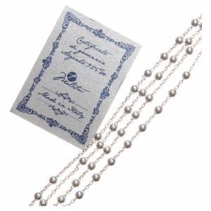 Rosario con forzatina argento 925 3 mm s3