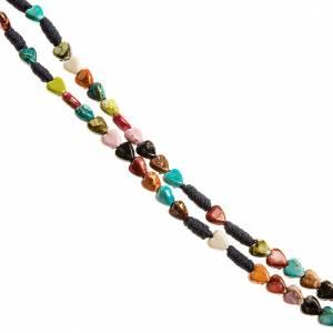 Rosari portarosari Medjugorje: Rosario cuore colorato Medjugorje