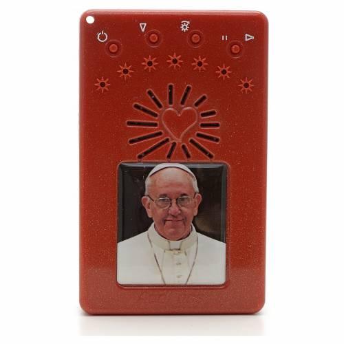 Rosario Electrónico Papa Francisco rojo Corona ITA 1
