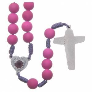 Rosari portarosari Medjugorje: Rosario fimo viola terra di Medjugorje