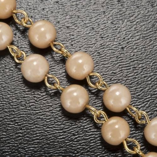 Rosario Ghirelli grani perlati Madonna di Fatima 6 mm s5