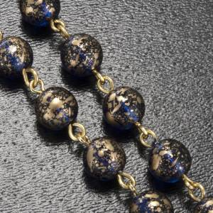 Rosario Ghirelli Madonna di Fatima vetro blu oro 6 mm s5