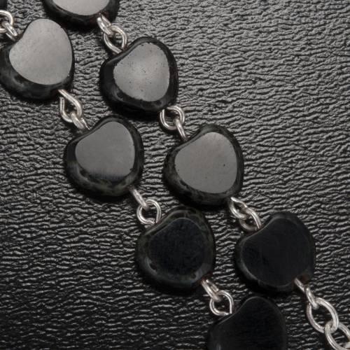 Rosario Ghirelli nero cuore Lourdes 8 mm s5