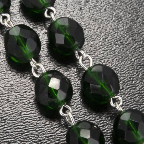 Rosario Ghirelli vetro verde scuro Grotta Lourdes 8 mm s5