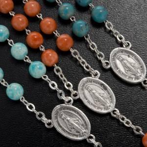 Rosarios símil perla: Rosario imitación piedra 6 mm