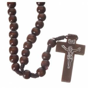 Rosari legno: Rosario legno scuro e corda