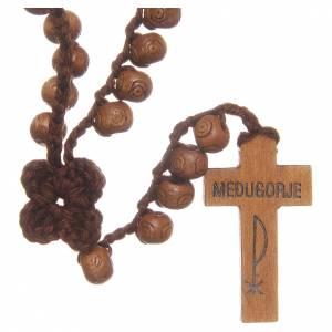 Rosarios y Porta Rosarios Medjugorje: Rosario Medjugorje con cruz de madera cuentas 9 mm