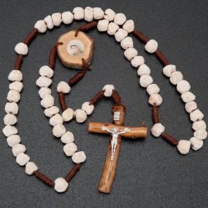 Rosario Medjugorje piedra madera y cuerda s2