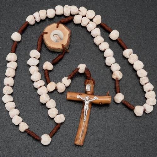 Rosario Medjugorje pietra legno e corda s2