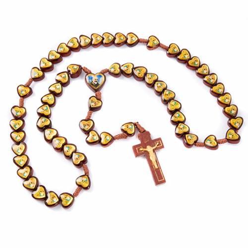 Rosario multi-imagen corazón Jesús y María s2