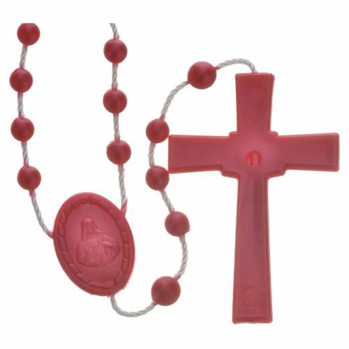 Rosario nylon perlato rosso s2