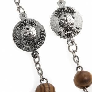 Rosario olivo medaglie Basiliche Roma 8 mm s6