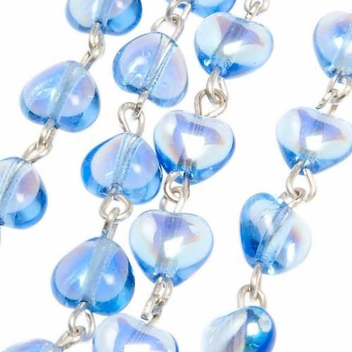 Rosario vetro blu Madonna Miracolosa s3