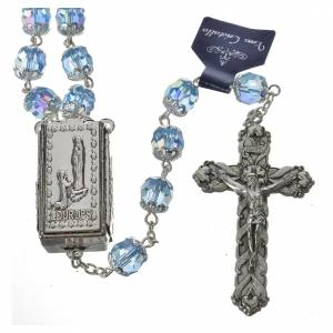 Rosary beads in crystal, 7mm Lourdes s2