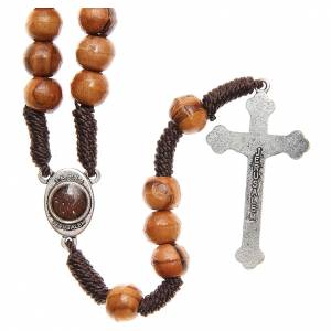 Wood rosaries: Rosary beads in Holy Land olive wood and cord with soil