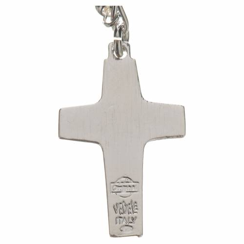 Rosary beads in silver, Pope Francis 0,12in s4