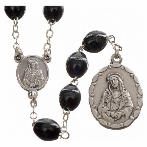 Rosary dedicated to Our Lady of Sorrows, black s1