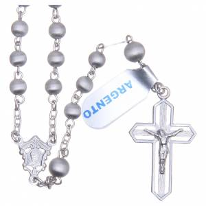 Rosary in 800 silver with 5mm velvety grains s1