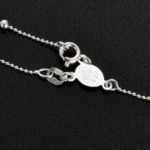 Rosary necklace silver 925 3 mm beads s5