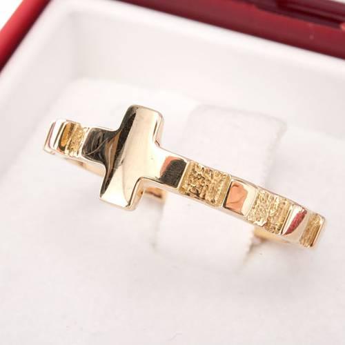 Rosary ring gold 18K s4