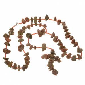Medjugorje Rosenkränze und Etuis: Rosenkranz Medjugorje roten Marmor Steine
