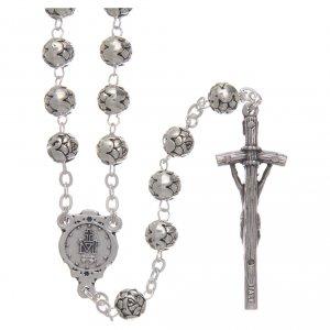 Metall Rosenkränze: Rosenkranz Metall mit Röschen und Pastoralkreuz