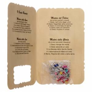 preiswerte Rosenkränze: Rosenkranz mit Karte Medjugorje, Geheimnisse
