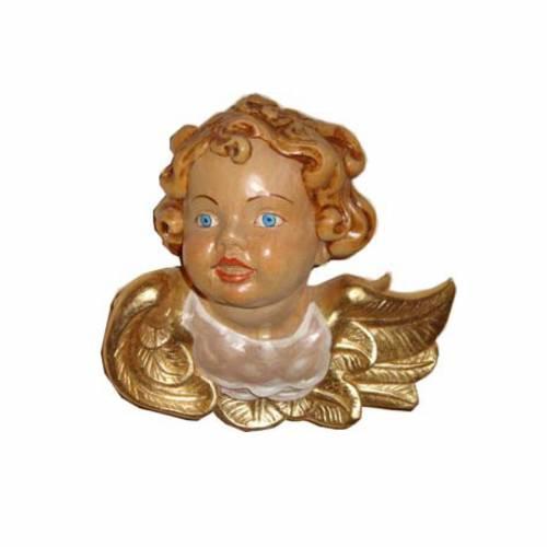 Rostro de ángel madera pintada 1