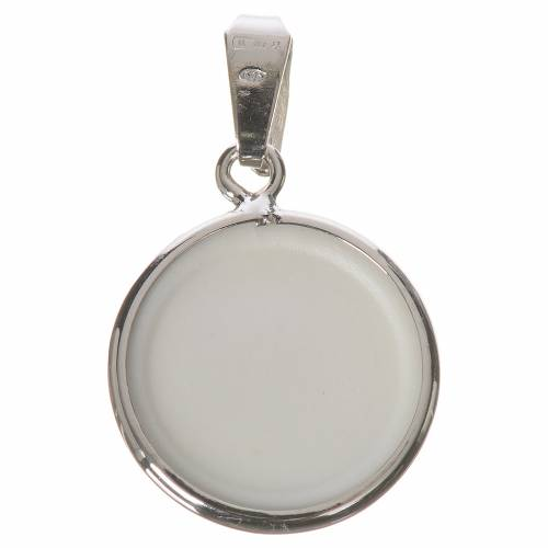 Round medal in silver, 18mm Lourdes s2