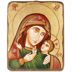 Handgemalte rumänische Ikonen: Rumänische Ikone Gottesmutter von Wladimir